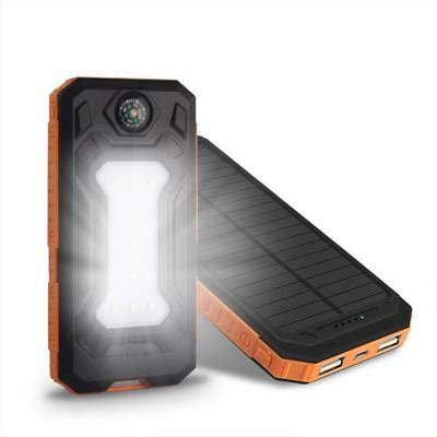 AU61.07 • Buy Power Bank Waterproof 300000 MAH With Two USB Solar Charger Case Universal Model