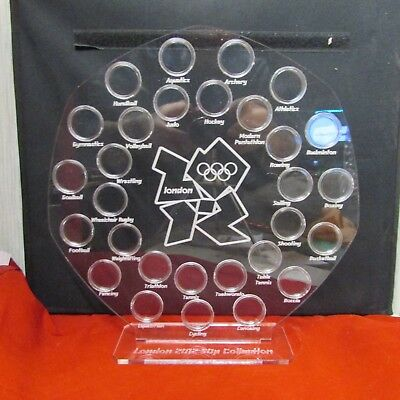 50p Pence Coin Hunt Album Royal Mint Stand Olympic 2012 50p Display Holder  • 42£