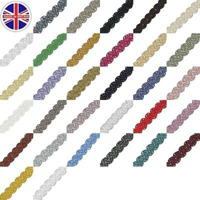 Upholstery Trim Gimp Braid Sheen Craft Cushions Lampshades 15mm  • 0.99£