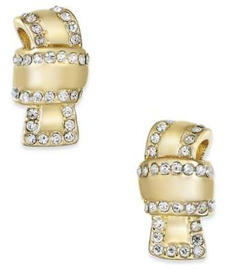 $ CDN47.06 • Buy New Kate Spade New York All Tied Up Gold Plated Pave Knot Earrings WBRUE551 $58
