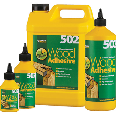 Everbuild Wood Glue Adhesive - All Purpose Waterproof PVA Wood High Strength 502 • 10.80£
