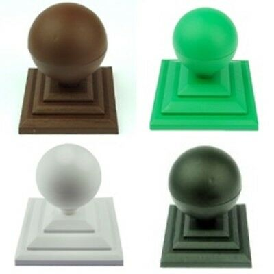 £26.69 • Buy Plastic Ball Finial & Fence Post Caps For 4  Or 100mm Square Wooden Fence Posts