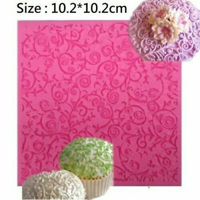 Lace Flower Vine Border Silicone Icing Fondant Cake Mat Decorating Mould 02 • 3.99£