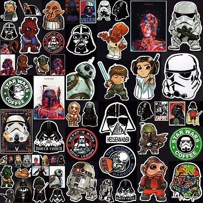 Star Wars Stickers 60+ Designs! Laptop Car Skateboard Waterproof Wall Vinyl • 1.62£