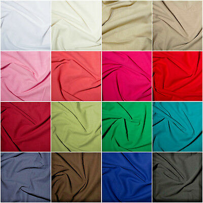 £6.99 • Buy 100% Cotton Linen Washed Breathable Fabric Dress Material  19 Colours 145cm Wide