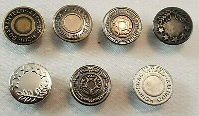 10 X 17mm Hammer On Denim Replacement Jeans Buttons Gunmetal Tack Alloy Studs  • 2.49£