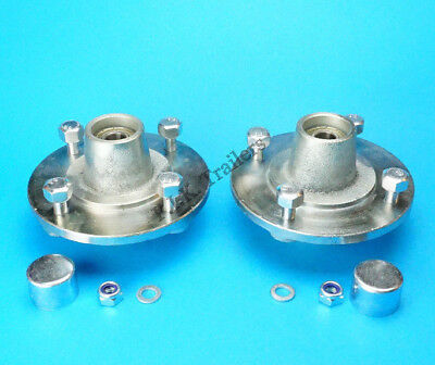 AU139.67 • Buy 2 X Trailer Hubs 115mm PCD With Bearings & Caps For Daxara 106 107 127 136 137
