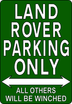 METAL SIGN / NOTICE ≈ LAND ROVER PARKING ONLY ≈ Landrover Series 1 2 2a 3 Plaque • 9.99£