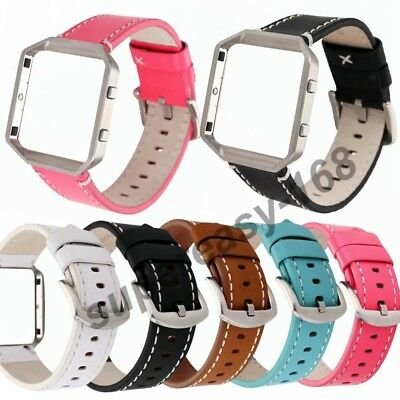 AU19.99 • Buy Replacement Fashion Leather Strap Wrist Band+ Frame For Fitbit Blaze Smart Watch