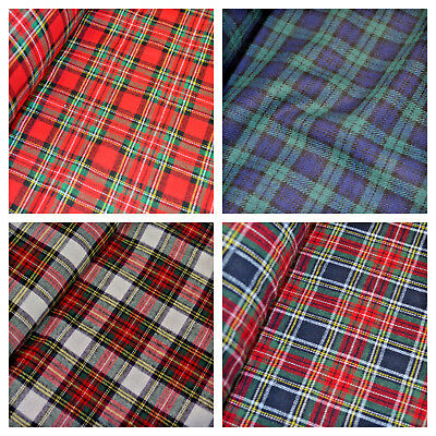 £6.50 • Buy 100% Brushed Cotton Fabric Tartan Wincyette Flannel Material 150cm Wide
