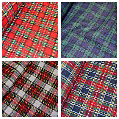 100% Brushed Cotton Fabric Tartan Wincyette Flannel Material 150cm Wide • 3.75£