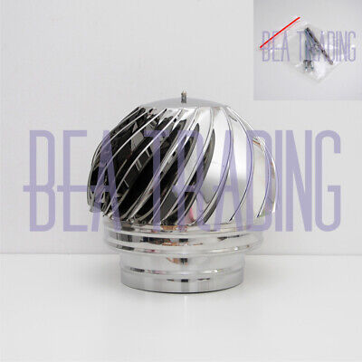 CHIMNEY SPINNER COWL Spinning, Stainless Steel Rotating INOX To Fit 150mm/5.90'' • 58.59£