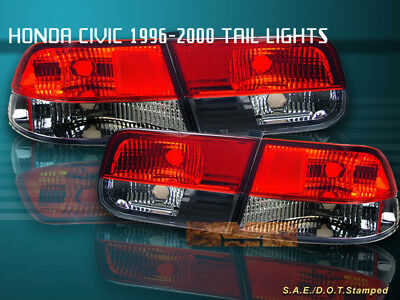 $81.99 • Buy Fit For 96-00 HONDA CIVIC TAIL LIGHTS RED/SMOKE 2DR COUPE 98 99