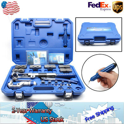 New WK-400 Hydraulic Pipe Expander Set Pipe Fuel Line Flaring Tools Steel UPS • 337.32$