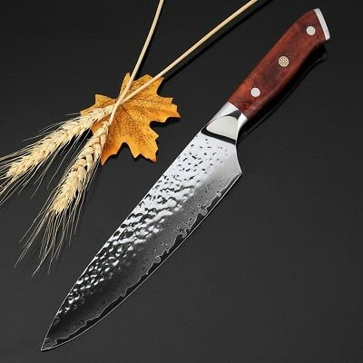 $ CDN91.28 • Buy Gyuto Chef Japanese Knife Damascus 67 Layers Steel VG10 Wood Handle Kitchen Meat
