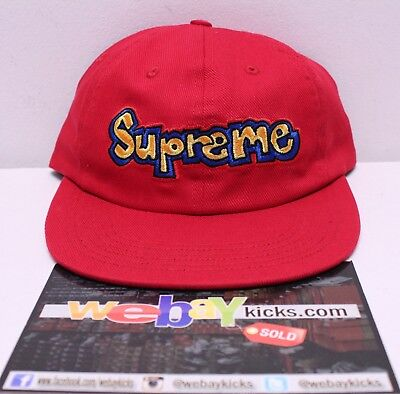 $ CDN75.93 • Buy Supreme New York NYC Gonz Logo Red Blue 6 Panel Snapback Cap Hat SS18H26 New