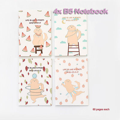 AU23.99 • Buy 4X B5 Cartoon Artist Beauty Stationery Diary Gift Girls Lined Ruled Notebook