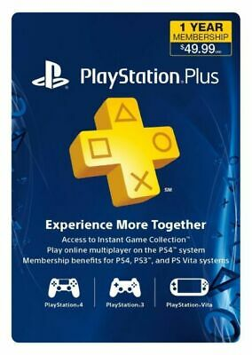 $ CDN52.44 • Buy Sony PlayStation PS Plus 1 Year 12-Month Membership Subscription Card USA/Canada