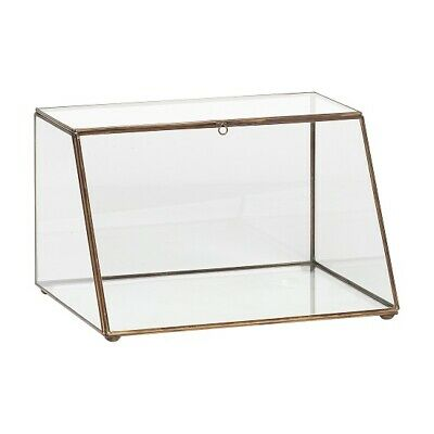 £67.41 • Buy Antique Gold Brass And Glass Display Jewellery Box By Hubsch