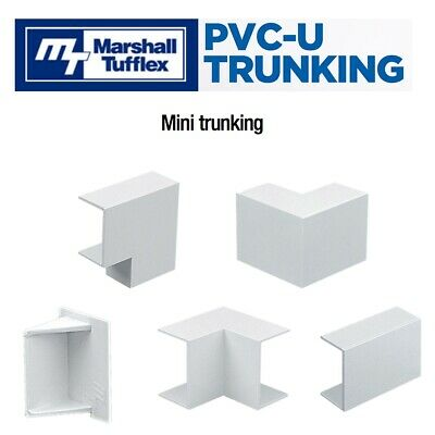 £3.69 • Buy PVC Mini Cable Trunking Shapes Connectors Accessories For Marshall Tufflex Range