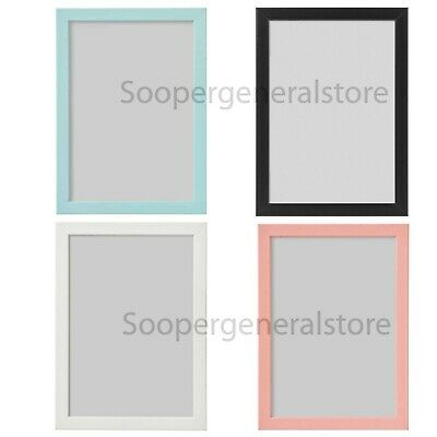 Ikea Fiskbo Photo Frame A4 Picture Pink Blue Black White A4 Children Baby Frame  • 5.49£