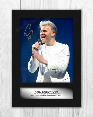 Gary Barlow 1 A4 Signed Mounted Photograph Picture Poster With Choice Of Frame • 27.99£