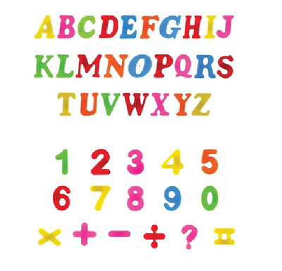 Magnetic Letters Alphabet & Numbers Fridge Magnets Toys Kids Learning Magnets • 2.99£
