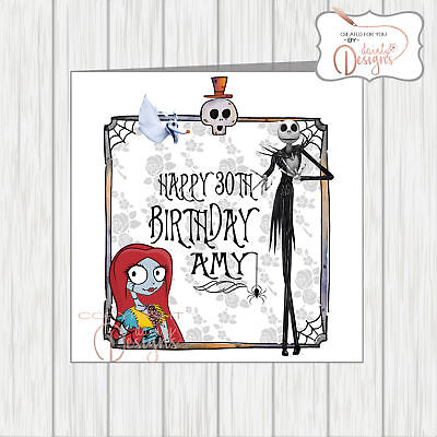 Nightmare Before Christmas Birthday Card Gothic Daughter Son Husband Wife Friend • 3.25£