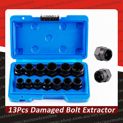 AU34.95 • Buy 13-Piece Impact Bolt & Nut Remover Set Nut Extractor Socket Bolt Remover Tool
