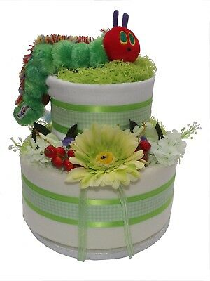The Very Hungry Caterpillar Two Tier Nappy Cake • 55£