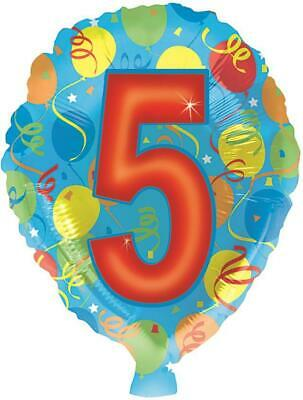 AU5.02 • Buy Balloon Shaped Number 5 18 Inch Foil Balloon