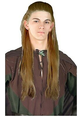£10.85 • Buy  Lord Of The Rings  Legolas Wig Dk Blonde Synthetic Hair Costume Wig With Braids