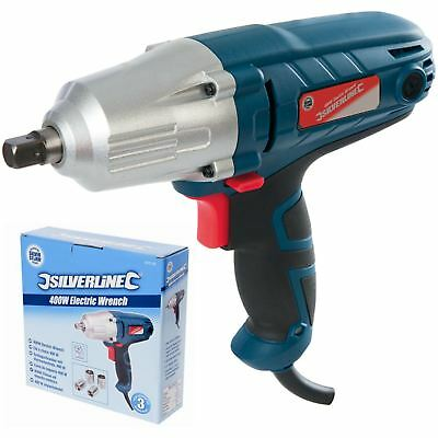 "View Details Silverstorm 400W Electric Impact Drill Wrench 1/2"" Dr Power Tool With Sockets • 50.99£"