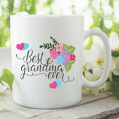 Grandma Mug Best Grandma Ever Gifts Coffee Tea Cup Present For Grandma WSDMUG998 • 9.99£