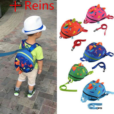Cartoon Baby Toddler Kids Dinosaur Safety Harness Strap Bag Backpack With Reins • 9.69£