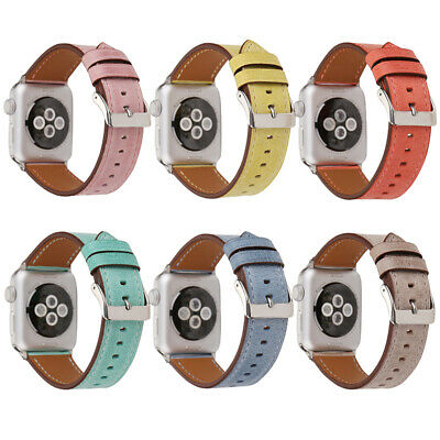 AU17.99 • Buy Genuine Leather Apple Watch Band Series SE 6 5 4 3 2 1 Strap IWatch Band 40 44mm