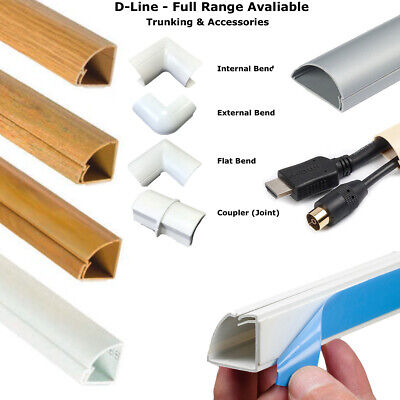 £9.97 • Buy D-line Self Adhesive Trunking Tv Cable Cover Pvc Plastic Dline & Accessories