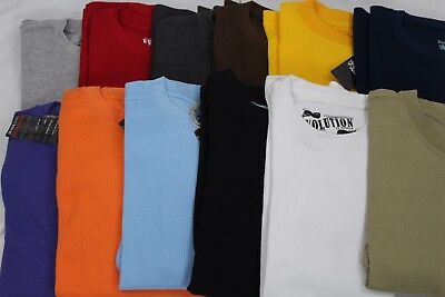 $8.99 • Buy Men Heavy Weight Waffle Thermal Long Sleeve Shirts 15 Colors Size S-6xl