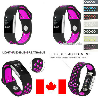 $ CDN6.59 • Buy For Fitbit Charge 2 Band Silicone Sport Replacement Wrist Strap Smart Watch