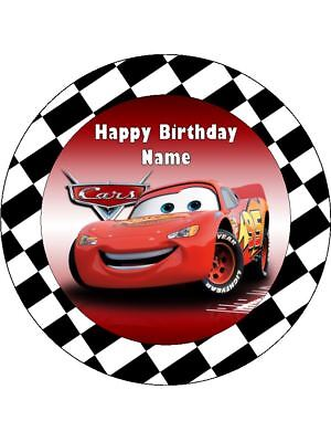 LIGHTNING McQUEEN 19cm Edible Cake Topper & 12 Wafer Paper Cupcake Toppers #1 • 5.93£