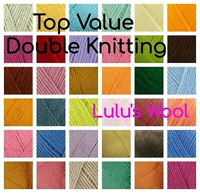 James C Brett Top Value Acrylic Double Knitting Wool/Yarn From ***LULU's WOOL*** • 1.75£
