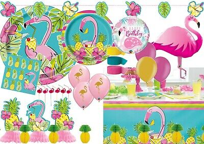 Flamingo Pineapple Hawaiian Luau Party Supplies Decorations Celebrations  • 2.99£