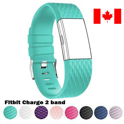 $ CDN6.99 • Buy For Fitbit Charge 2 Band Replacement Wrist Strap Silicone Smart Watch Band S-L