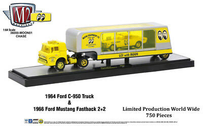 $89.99 • Buy M2 Machines Auto Hauler Mooneyes CHASE 1964 Ford C-950 Truck And 1966 Mustang