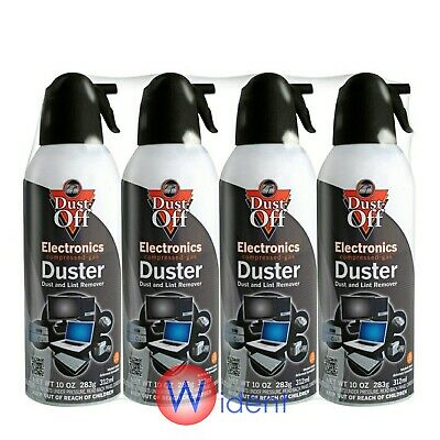 4Pk Falcon Compressed Air Gas Duster Cans Computer Dust Off 10oz Keyboard • 18.08£