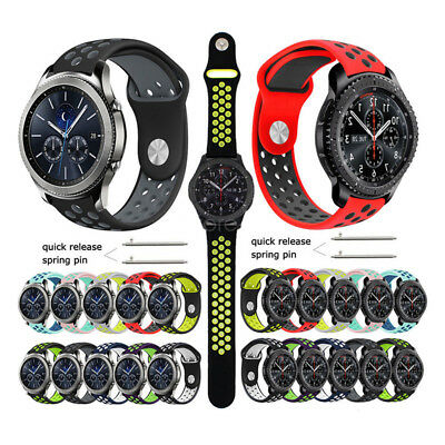 AU10.99 • Buy Silicone Sport Band Wrist Watch Strap For Samsung Gear S3 Classic /Frontier 22mm