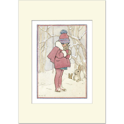 Little Furry Friends - Margaret Tarrant - Medici Mounted Print • 21£