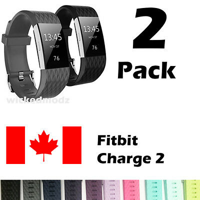 $ CDN11.99 • Buy For Fitbit Charge 2 Band Replacement Wrist Strap Silicone Smart Watch Band S-L