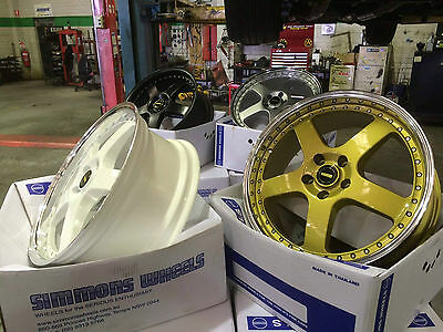 AU1999 • Buy 20nch Simmons FR Wheels And Tyres Holden Ford In Black Gold Sliver