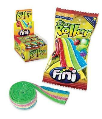 * Fini Rainbow Belts Strips Roller Full Box 40 Christmas Party RETRO SWEETS • 12.99£